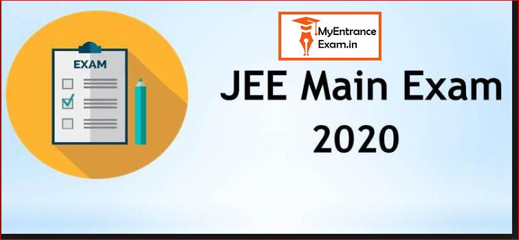 Jee Main 2020 Entrance Exam Details