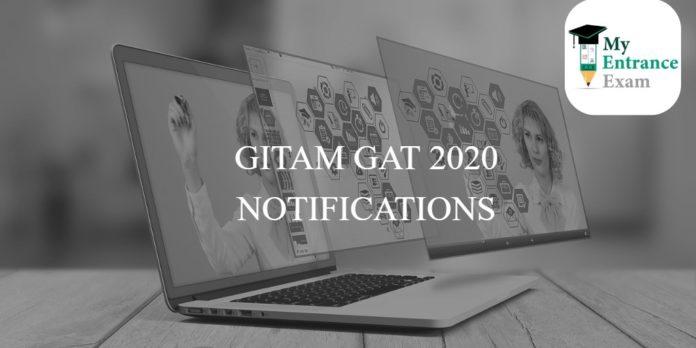 GITAM GAT 2020 NOTIFICATIONS