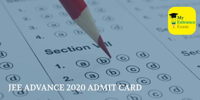 JEE ADVANCE 2020 ADMIT CARD