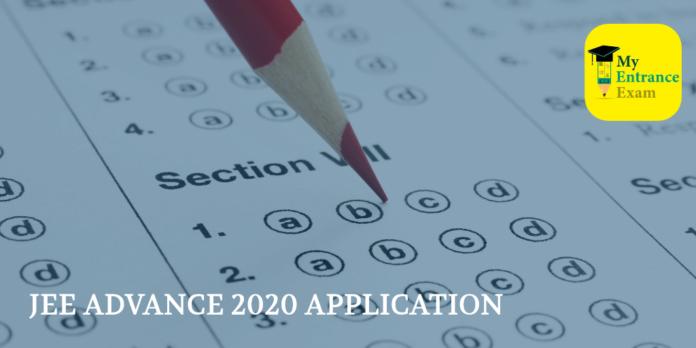 JEE ADVANCE 2020 APPLICATION