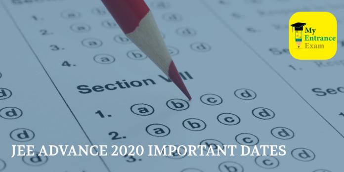 JEE ADVANCE 2020 IMPORTANT DATES