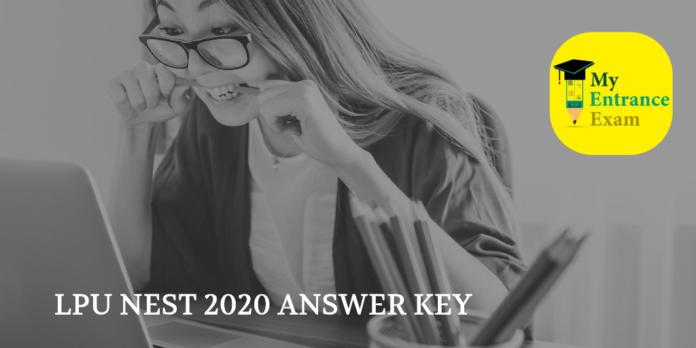 LPU NEST 2020 ANSWER KEY