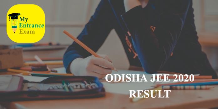 Odisha Jee Result 2020