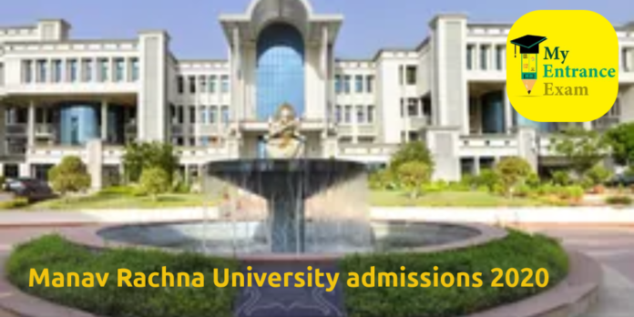 Manav Rachna University admissions 2020