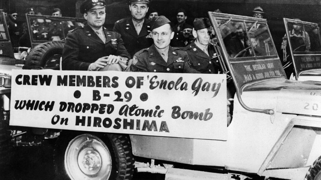Enola Gay dropped an atomic bomb on Hiroshima