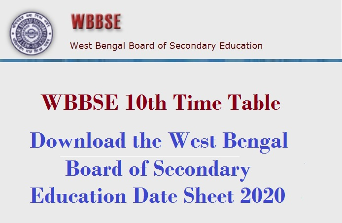 west bengal class 10th timetable