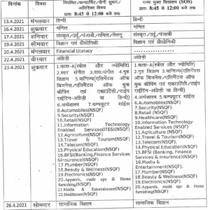Himachal Pradesh Board Class 10th Timetable